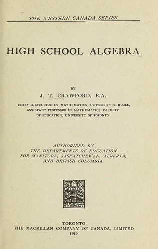 Download High school algebra