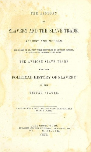 Download The history of slavery and the slave trade, ancient and modern