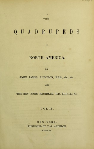 The quadrupeds of North America