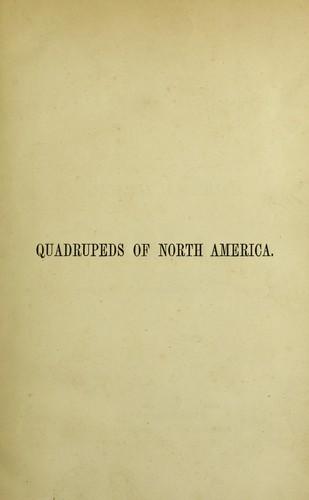 Download The viviparous quadrupeds of North America