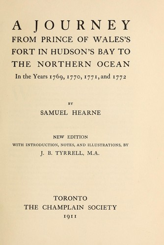 A journey from Prince of Wale's fort in Hudson's Bay to the northern ocean