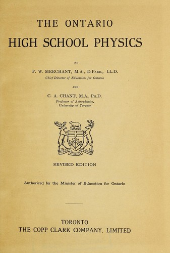 Download The Ontario high school physics