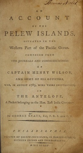 Download An account of the Pelew Islands, situated in the western part of the Pacific Ocean