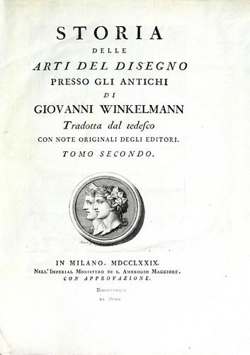 Download Storia delle arti del disegno presso gli antichi