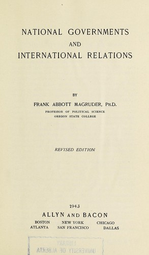 National governments and international relations