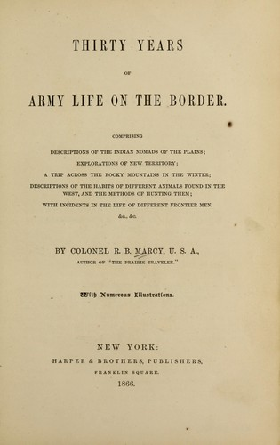 Download Thirty years of army life on the border.