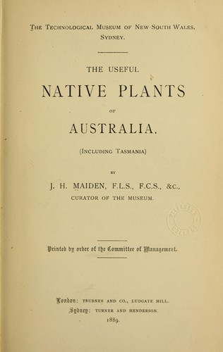 Download The useful native plants of Australia