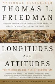 Longitudes and Attitudes by Thomas L. Friedman, Thomas L. Friedman