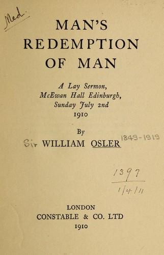 Man's redemption of man