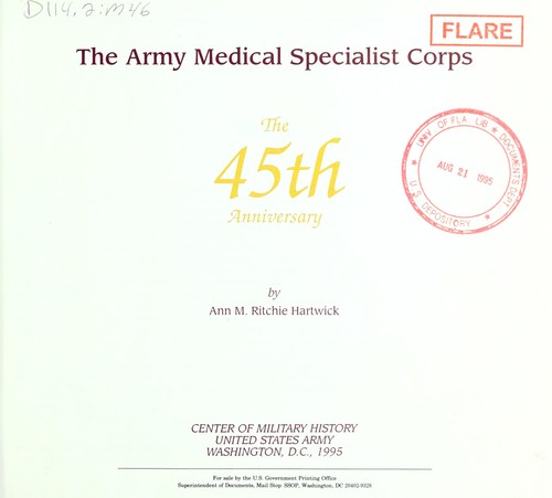 The Army Medical Specialist Corps