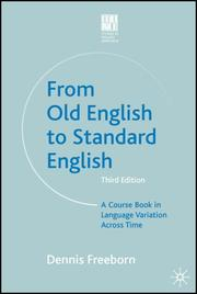 From Old English to Standard English by Dennis Freeborn