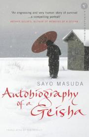 Cover image for Autobiography Of A Geisha