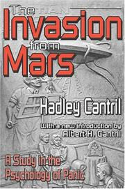 The invasion from Mars by Hadley Cantril