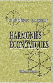 Cover of: Harmonies conomiques by Frdric Bastiat