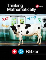 Cover of: Thinking Mathematically Value Pack Includes Student Solutions Manual and Study Pack  CD Lecture Series