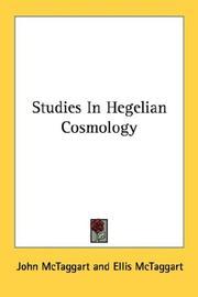 Studies In Hegelian Cosmology PDF