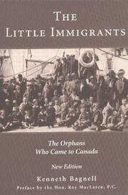 The little immigrants by Kenneth Bagnell