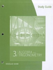 Cover of: Study Guide for StewartRedlinWatsons Algebra and Trigonometry 3rd