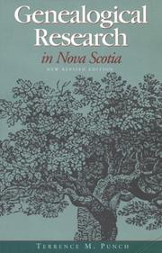 Genealogical research in Nova Scotia by Terrence M. Punch