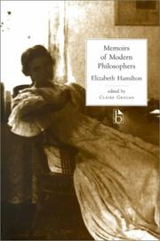 Memoirs of modern philosophers by Hamilton, Elizabeth