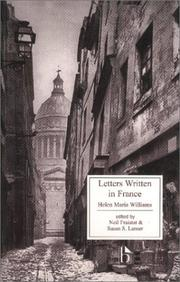 Letters written in France by Helen Maria Williams