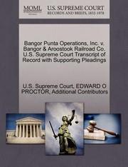 Bangor Punta Operations Inc