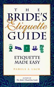 The bride's etiquette guide PDF