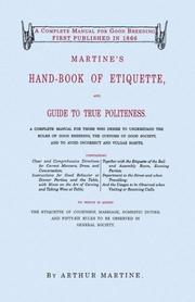 Martine's hand-book of etiquette PDF