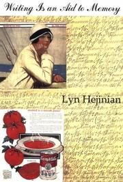 Cover of: Writing Is an Aid to Memory (Sun and Moon Classics) by Lyn Hejinian