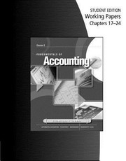 Cover of: Working Papers for GilbertsonLehmans Fundamentals of Accounting