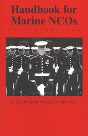 Handbook for Marine NCOs by Kenneth W. Estes