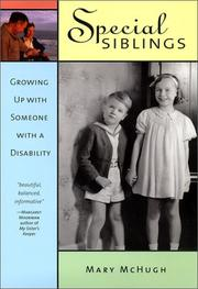 Cover of: Special Siblings by Mary McHugh