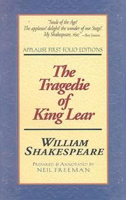 Cover of: Tragedie of King Lear by William Shakespeare