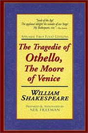 Cover of: The tragedie of Othello, the Moor of Venice by William Shakespeare