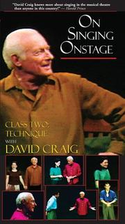 On Singing Onstage by David Craig