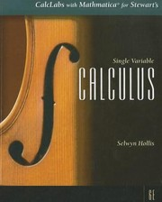Cover of: Calclabs with Mathematica for Stewarts Single Variable Calculus 6th