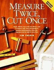 Measure twice, cut once PDF
