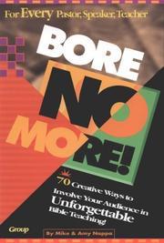 Bore no more!