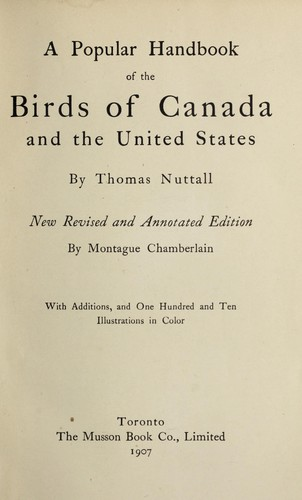 A popular handbook of the birds of Canada and the United States