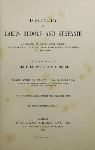 Download Discovery of lakes Rudolf and Stefanie