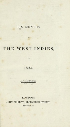 Six months in the West Indies, in 1825.