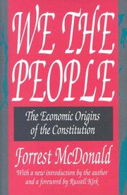 We the people by Forrest McDonald