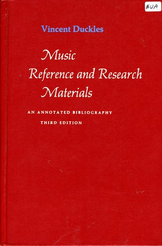 Music reference and research materials