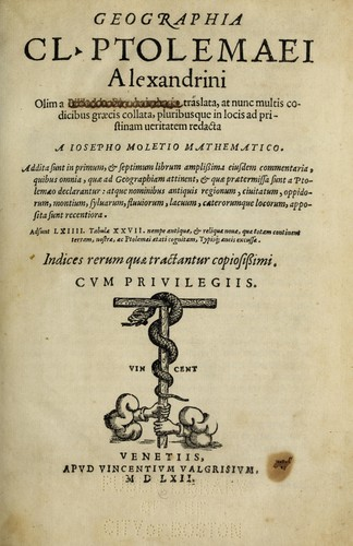 Download Geographia Cl. Ptolemaei Alexandrini