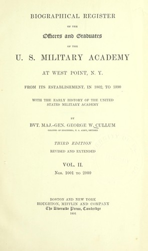 Download Biographical register of the officers and graduates of the U.S. Military Academy at West Point, N.Y.
