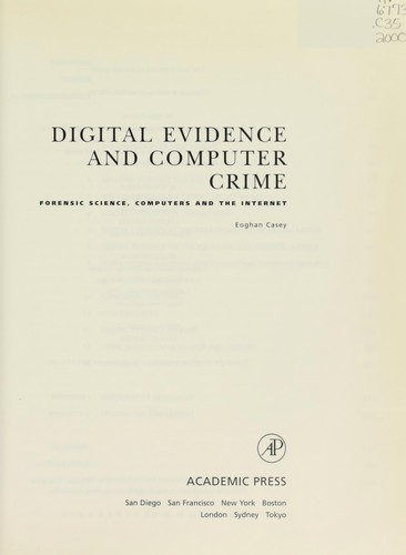 Download Digital evidence and computer crime