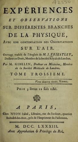 Download Expériences et observations sur différentes branches de la physique
