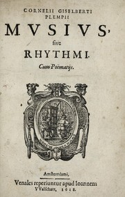 Cornelii Giselberti Plempii Musius, sive, Rhythmi