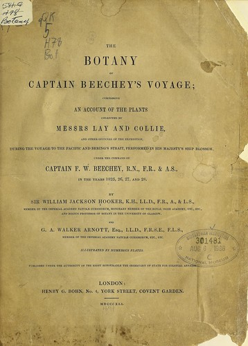 Download The botany of Captain Beechey's voyage
