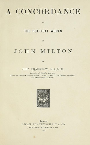 Download A concordance to the poetical works of John Milton
